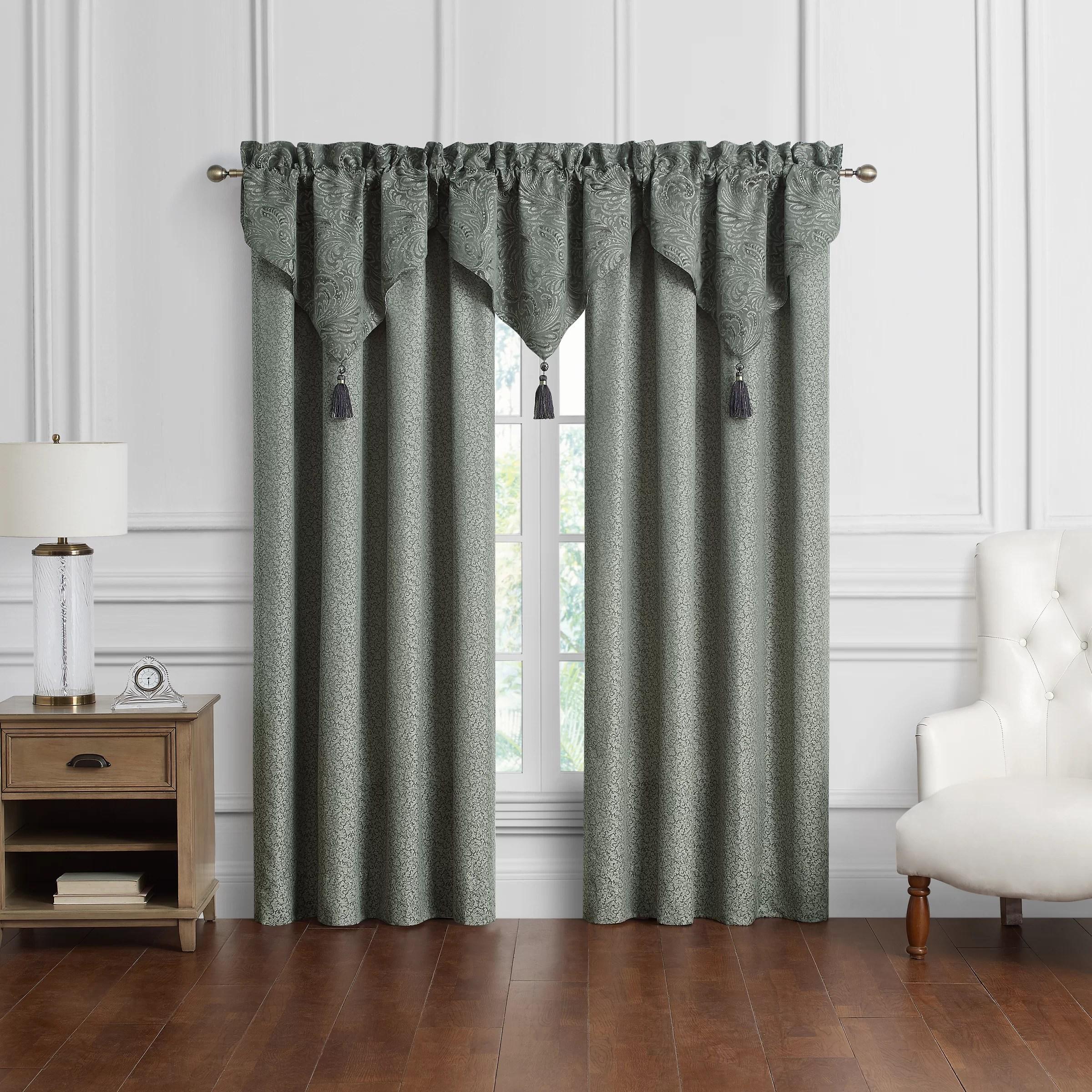garner set of 2 rod pocket curtain panels
