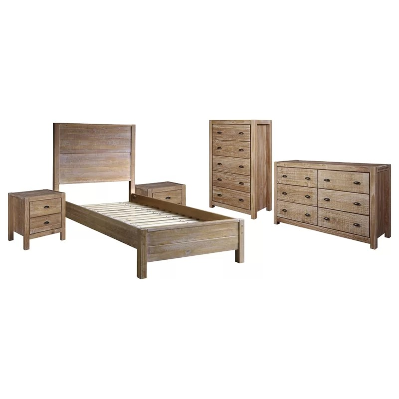Montauk Solid Wood Standard 4 - Piece Configurable Bedroom Set