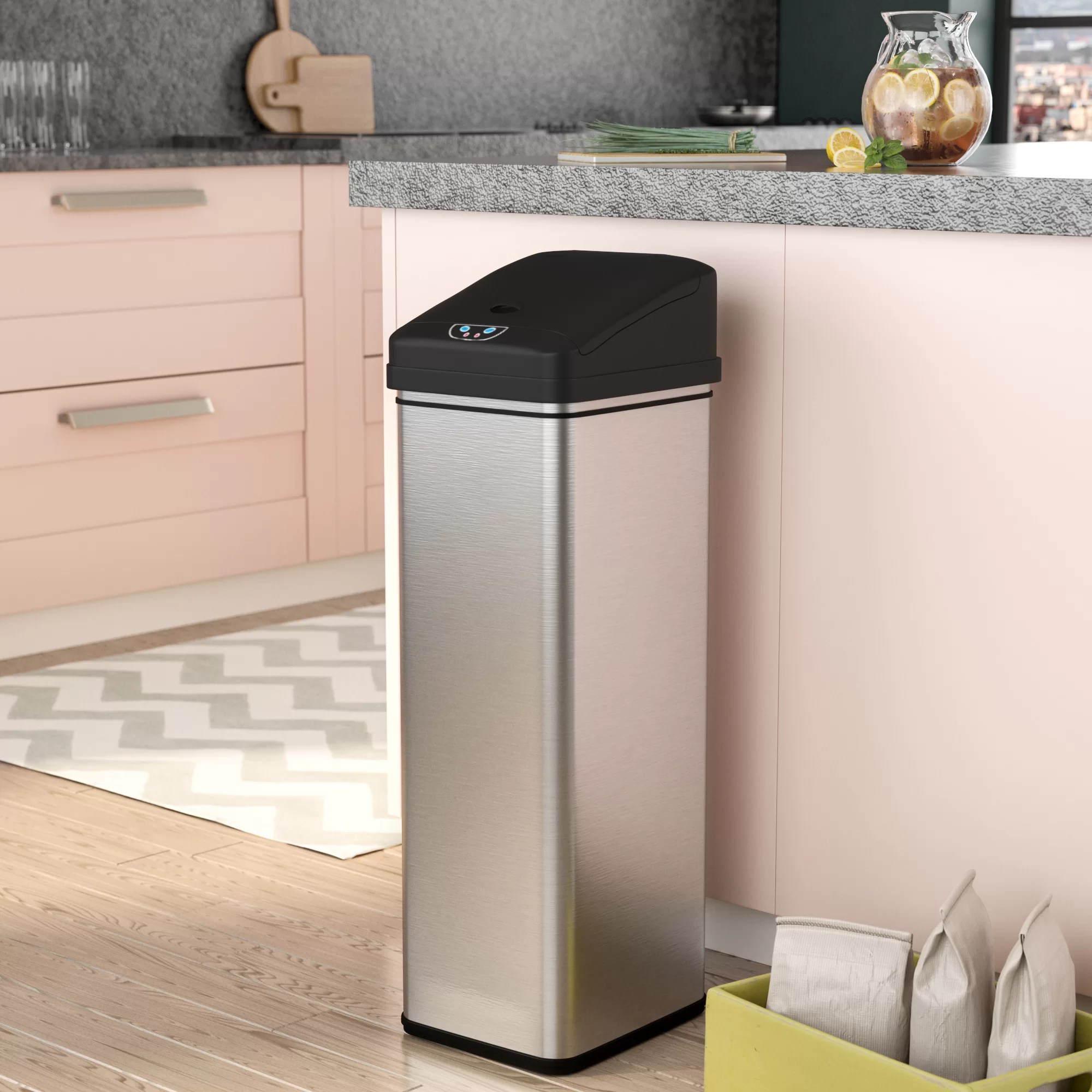 Ealy Stainless Steel 13 Gallon Motion Sensor Trash Can Reviews