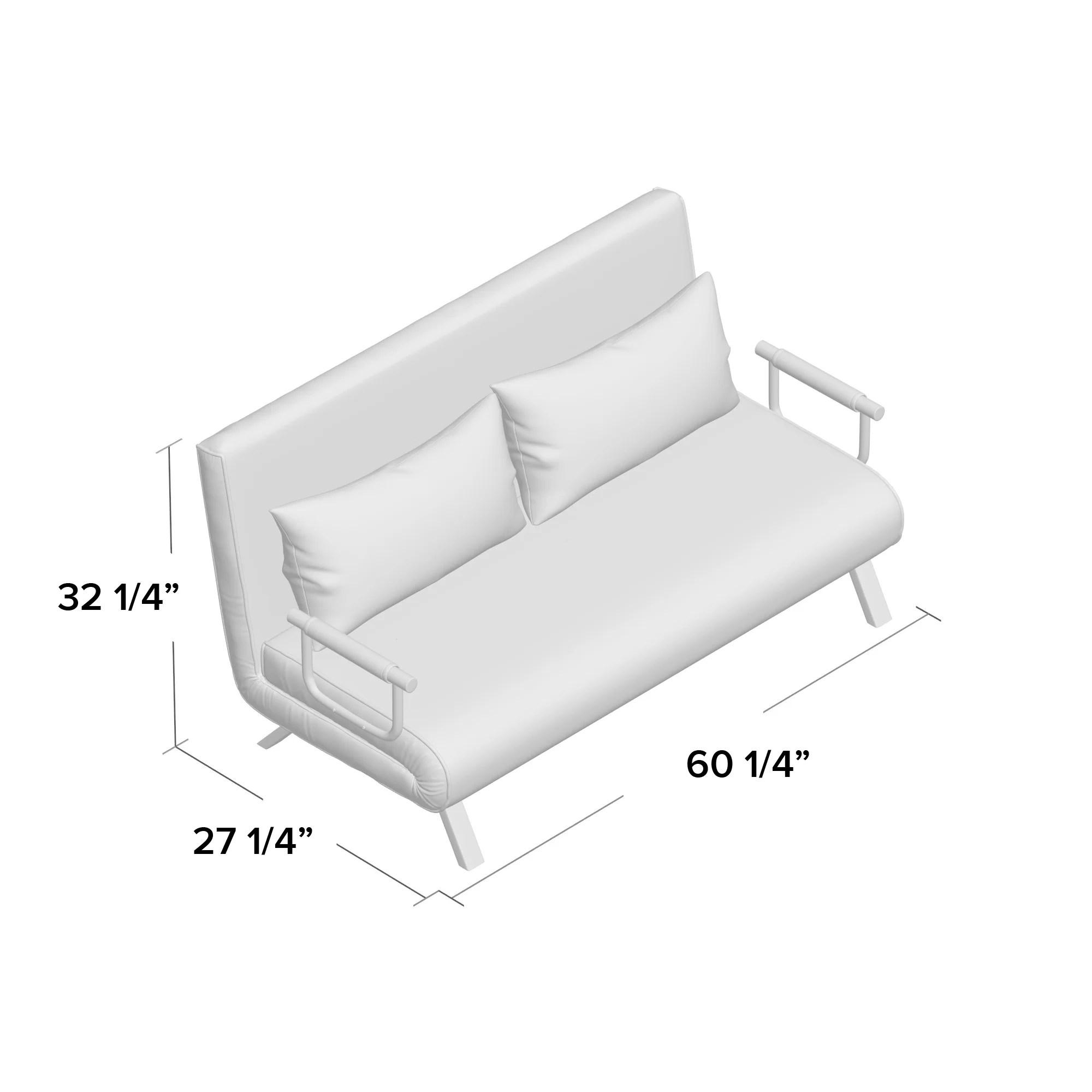 Ebern Designs Westbury Park Sofa Bed 60 25 Inches Loveseat Reviews Wayfair