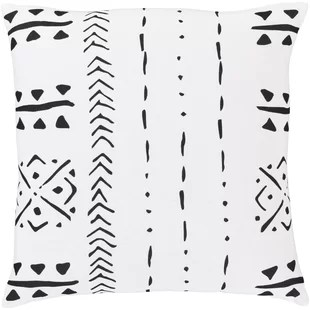 black white bohemian throw pillows