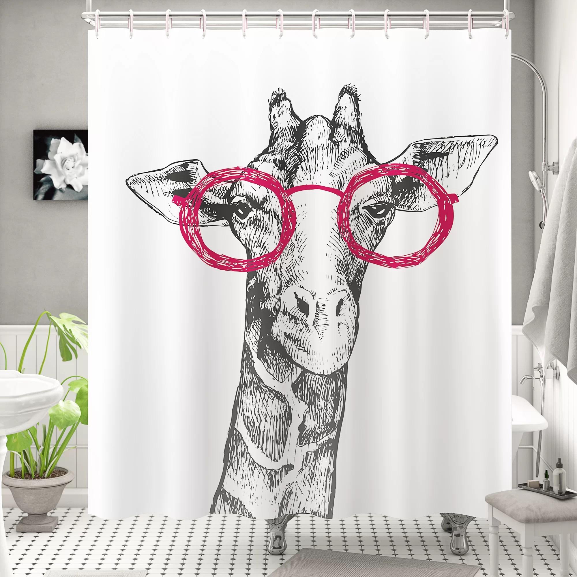 farm plants cute animals fabric shower