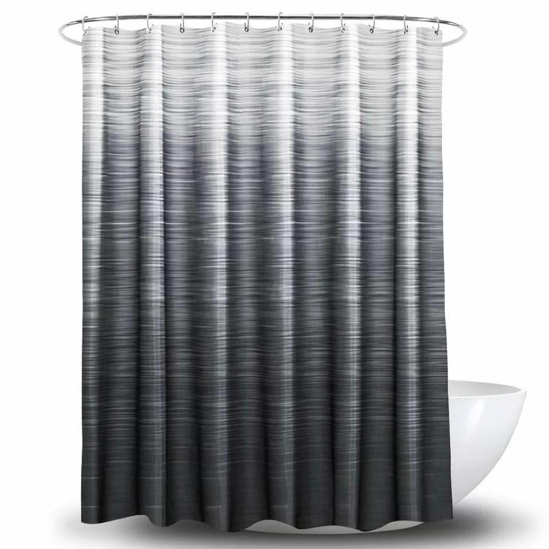 carovella 13 piece ombre shower curtain set hooks