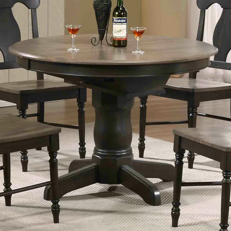 august grove flavia extendable solid wood dining table on solid wood dining table id=66282