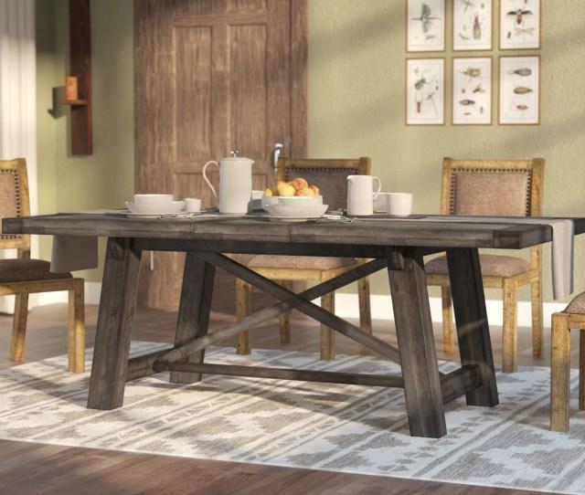Laurel Foundry Modern Farmhouse Colborne Extendable Solid Wood Dining Table Reviews Wayfair