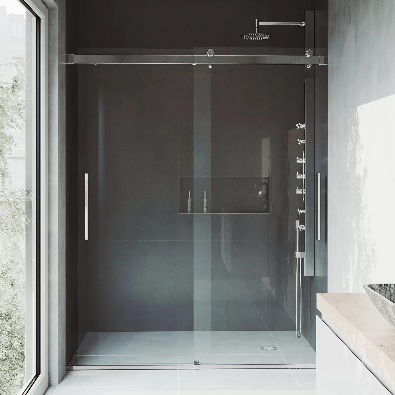 Caspian 61 X 73 5 Double Sliding Frameless Shower Door