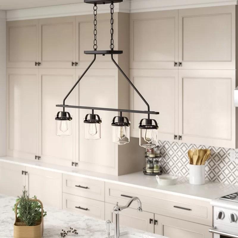 georgetown 4 light kitchen island linear pendant