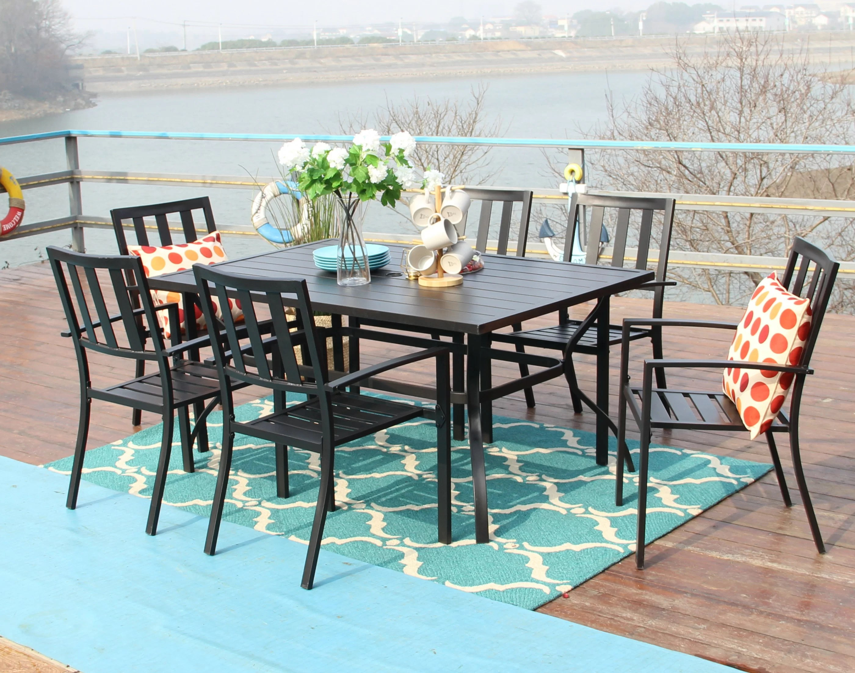 outdoor restaurant table chair sets