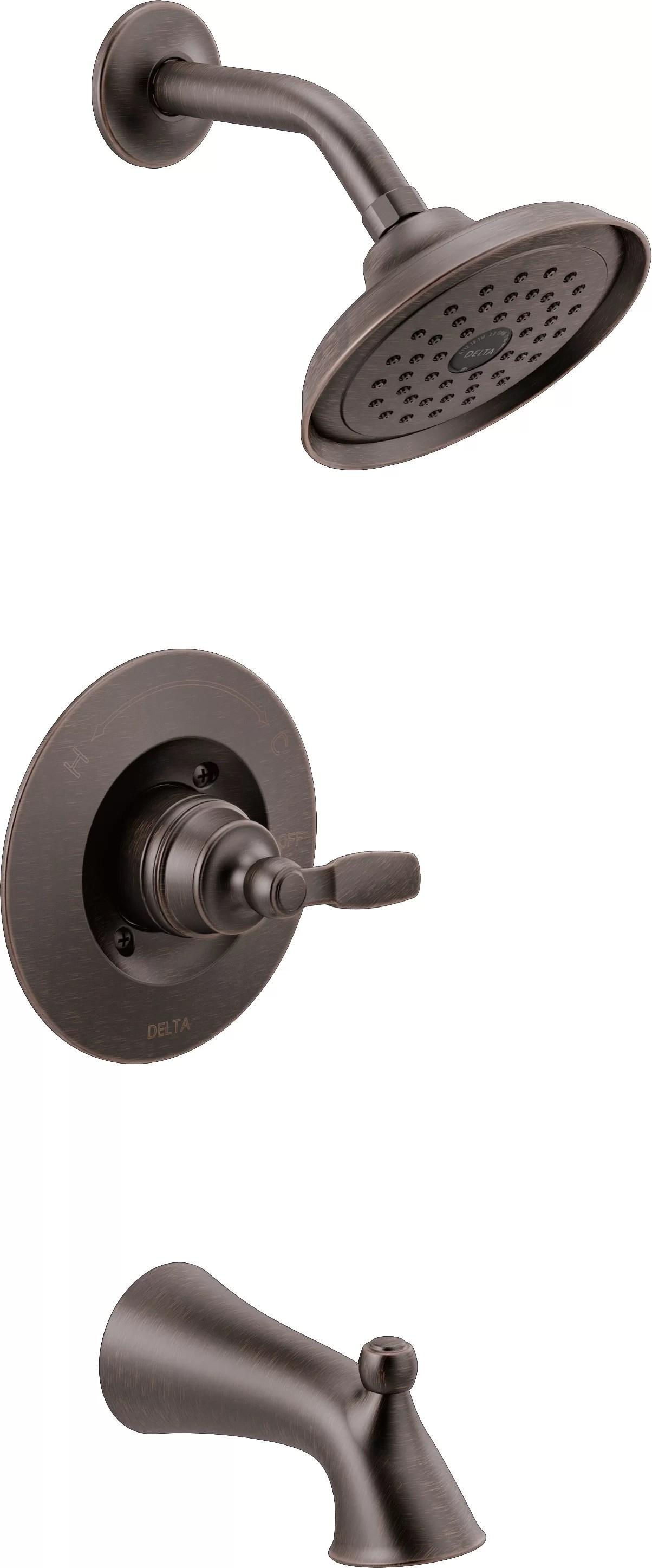 https www wayfair com home improvement pdp delta woodhurst pressure balanced tub and shower faucet with monitor cbkb1908 html