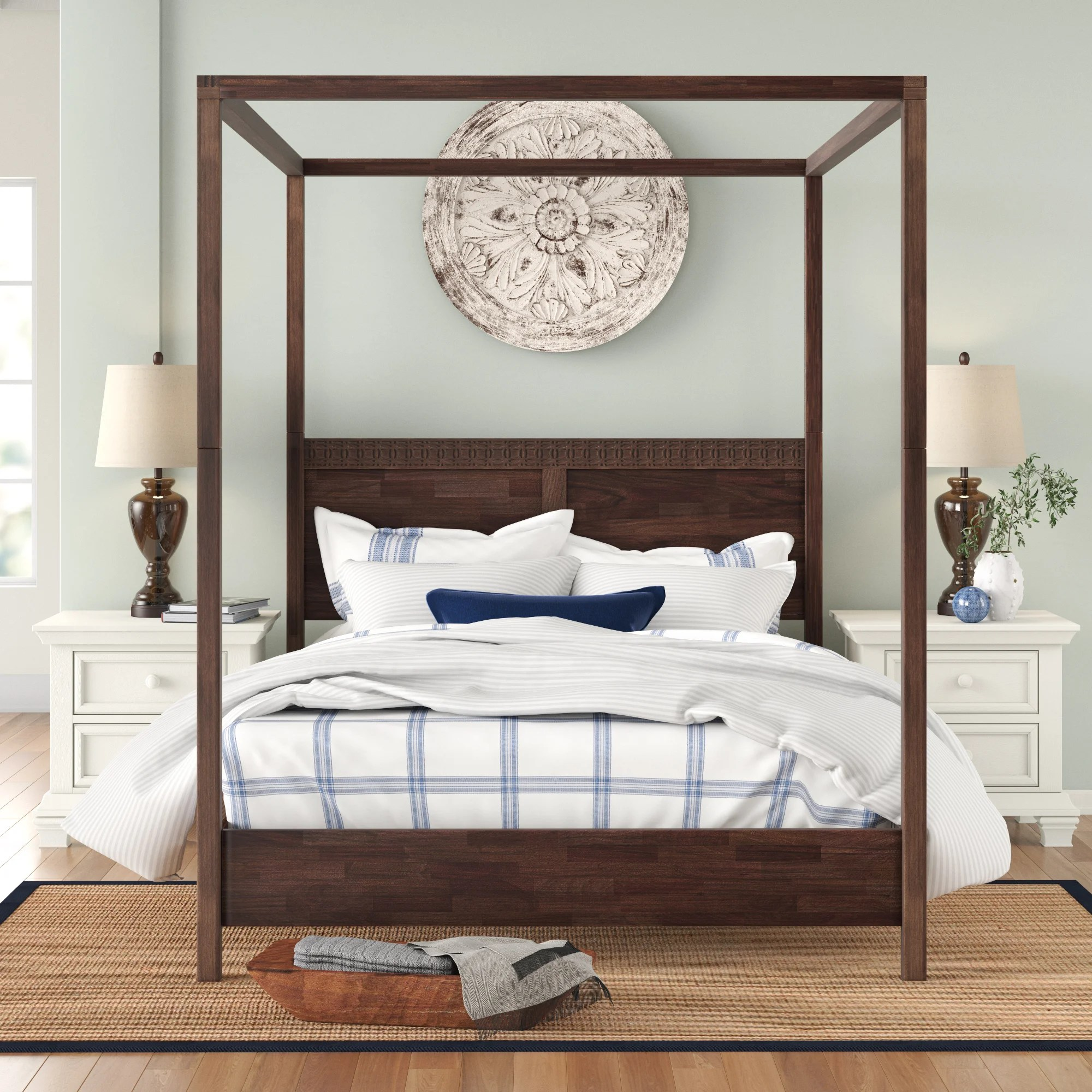 Three Posts Behling Four Poster Bed Reviews Wayfair Co Uk