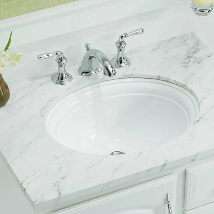 devonshire ceramic oval undermount bathroom sink with overflow