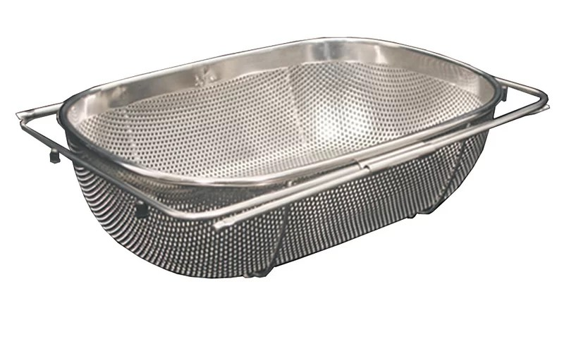 whitehaus collection stainless steel over the sink strainer
