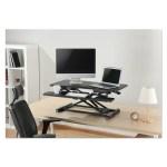 Symple Stuff Kanode Height Adjustable Standing Desk Converter Wayfair