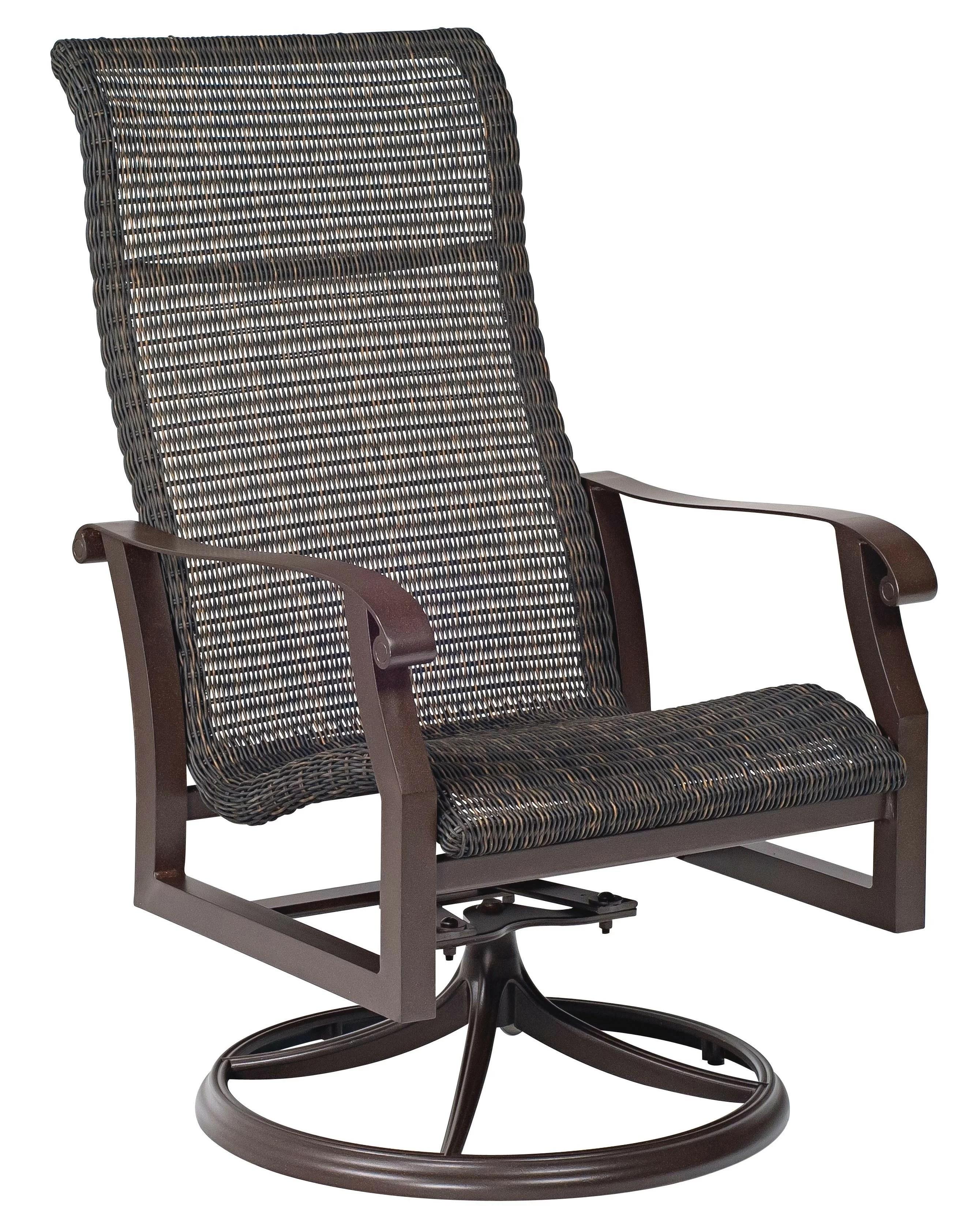 Woodard Cortland Woven High Back Swivel Rocking Chair Wayfair