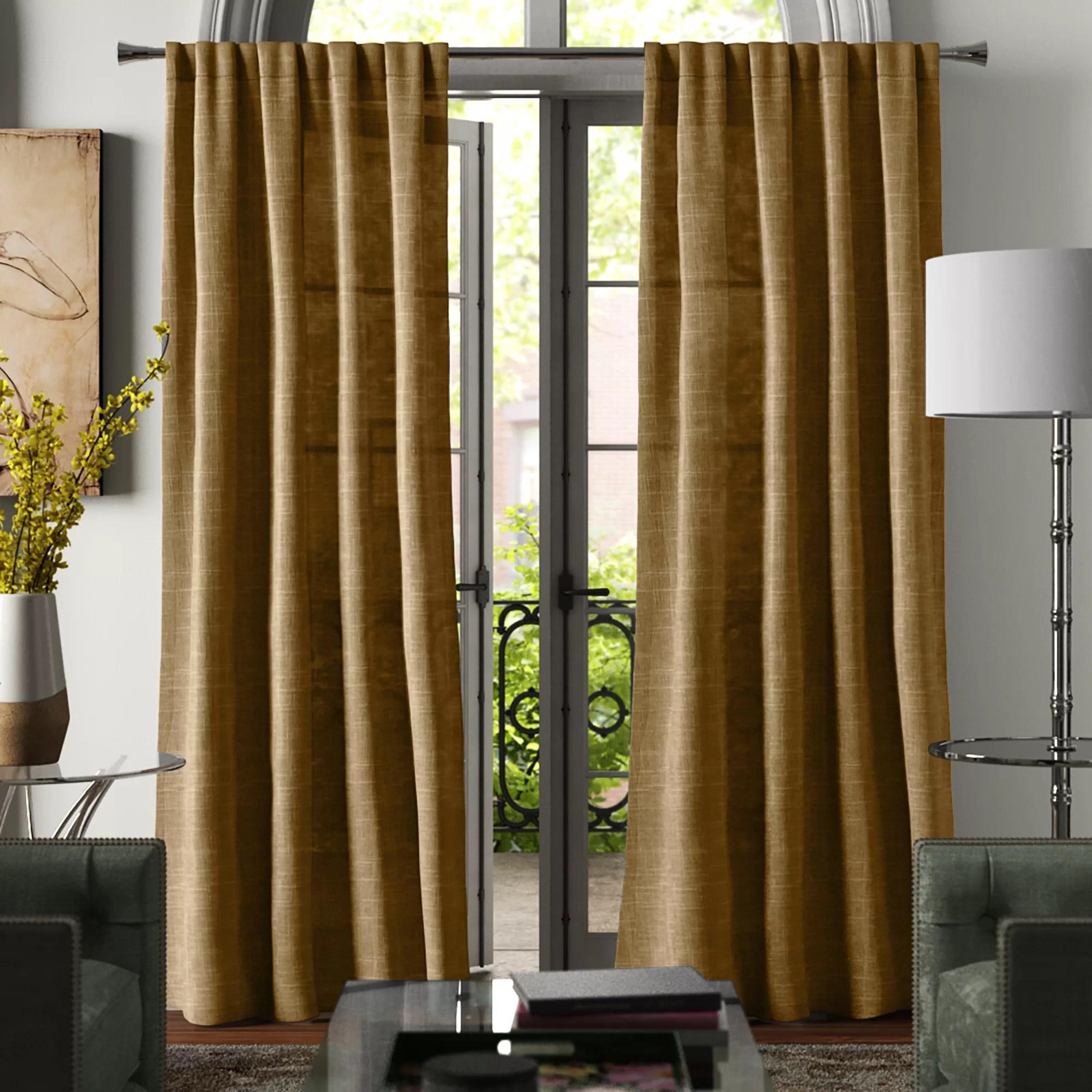 winnett solid room darkening rod pocket curtain panels
