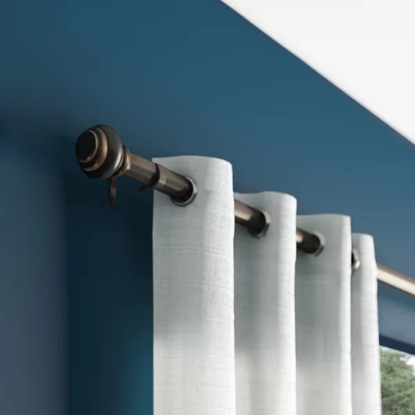 arched window curtain rods