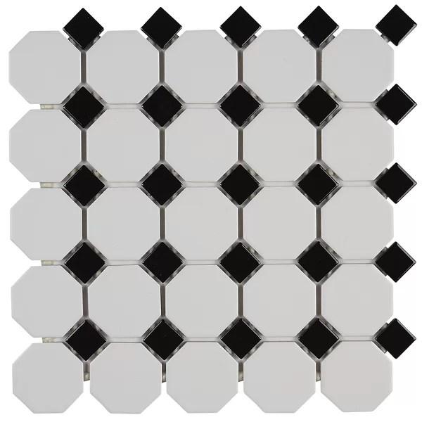 black octagon tile