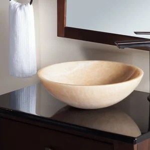 granite & stone bathroom sinks you'll love | wayfair