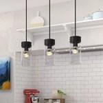 Brayden Studio Daniell 3 Light Kitchen Island Linear Pendant Reviews Wayfair