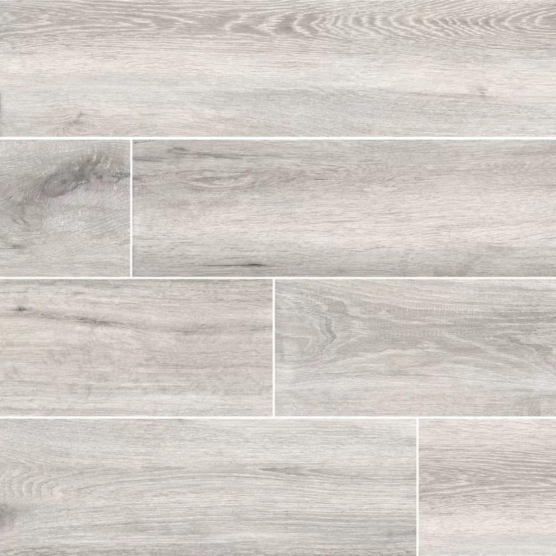 antoni platinum 6 x 36 porcelain wood look tile in grey