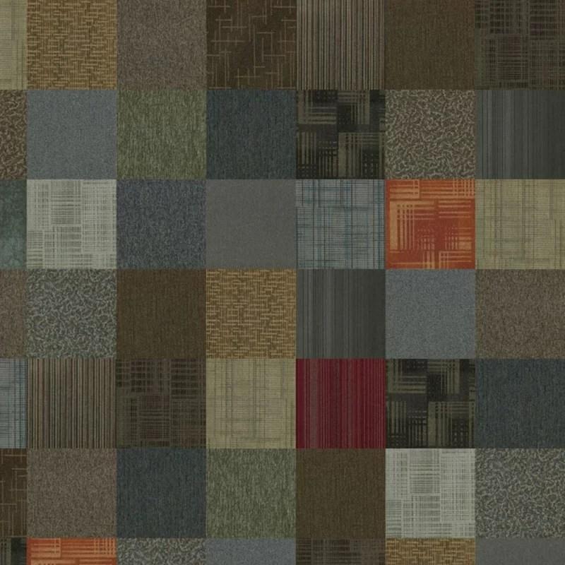kaleidoscope 24 x 24 level loop peel and stick assorted carpet tile