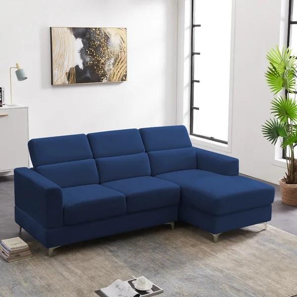 navy blue velvet sectional