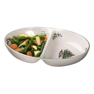christmas tree serve divided serving dish