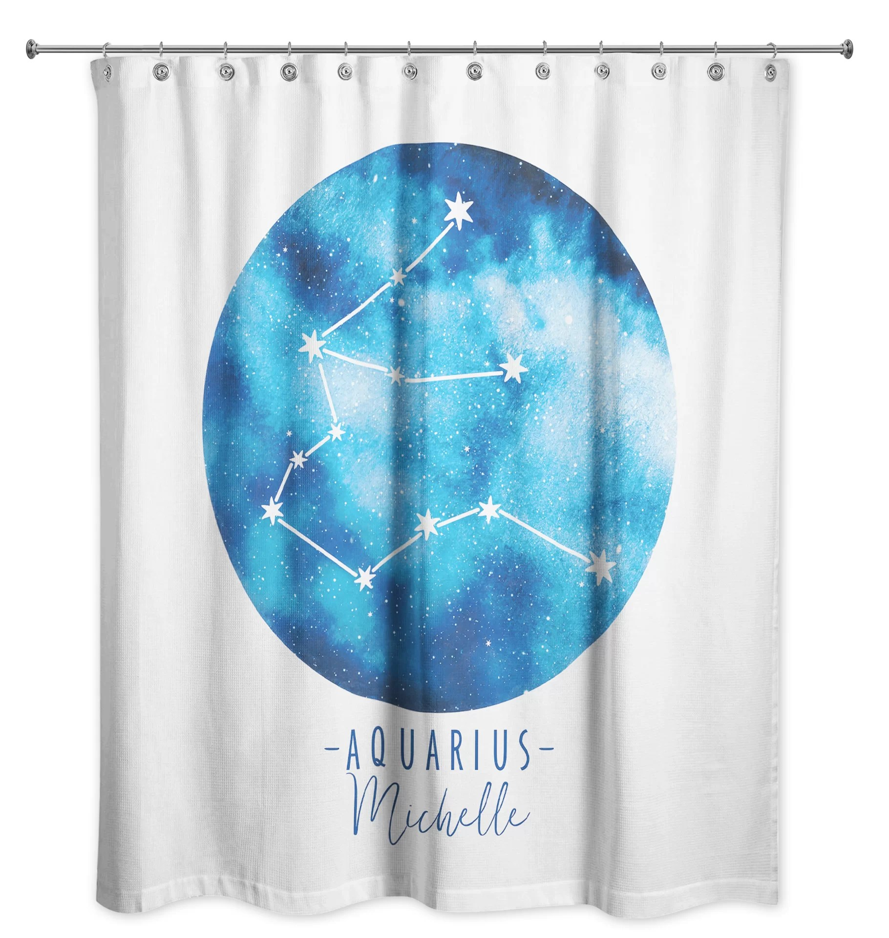 dulin personalized single shower curtain