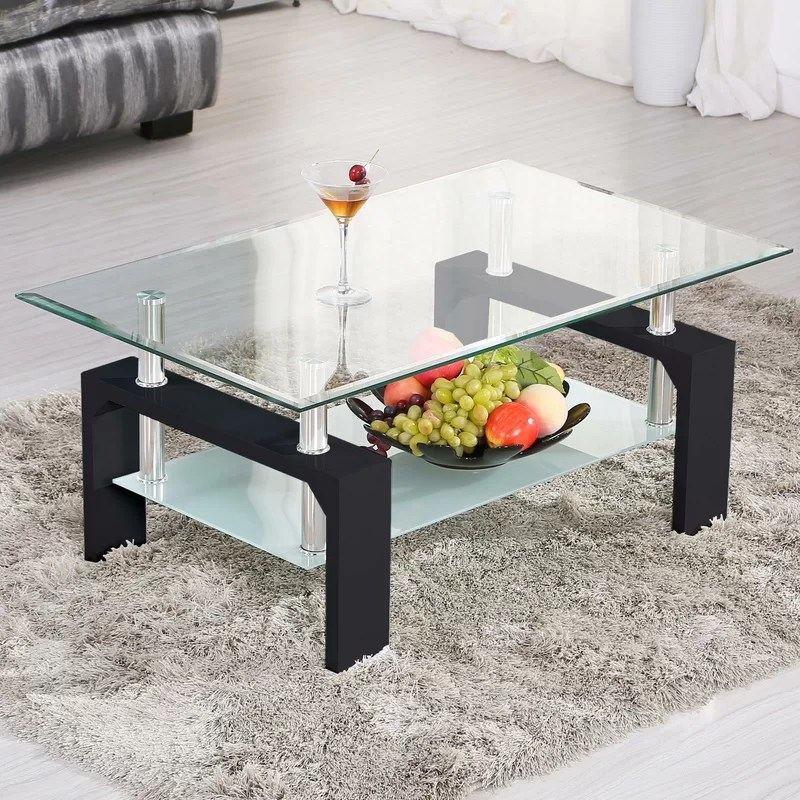 torr glass coffee table