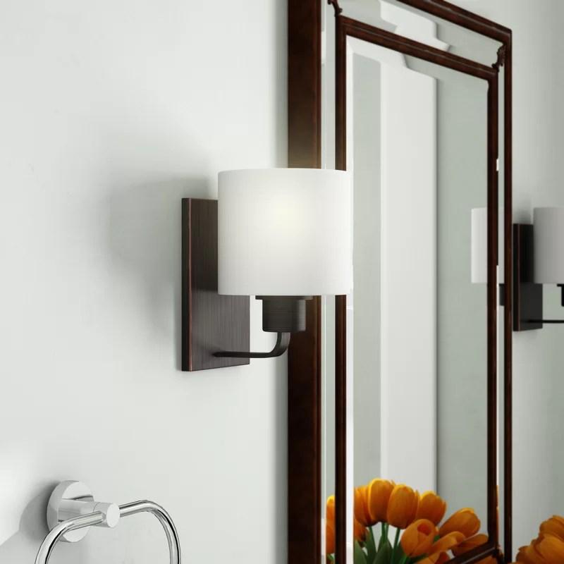 Andover Mills™ Finbar 1-Light Dimmable Bath Sconce   Wayfair on Wayfair Bathroom Sconces id=29361