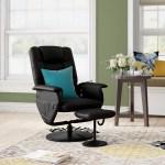 Latitude Run Reclining Heated Massage Chair With Ottoman Reviews Wayfair