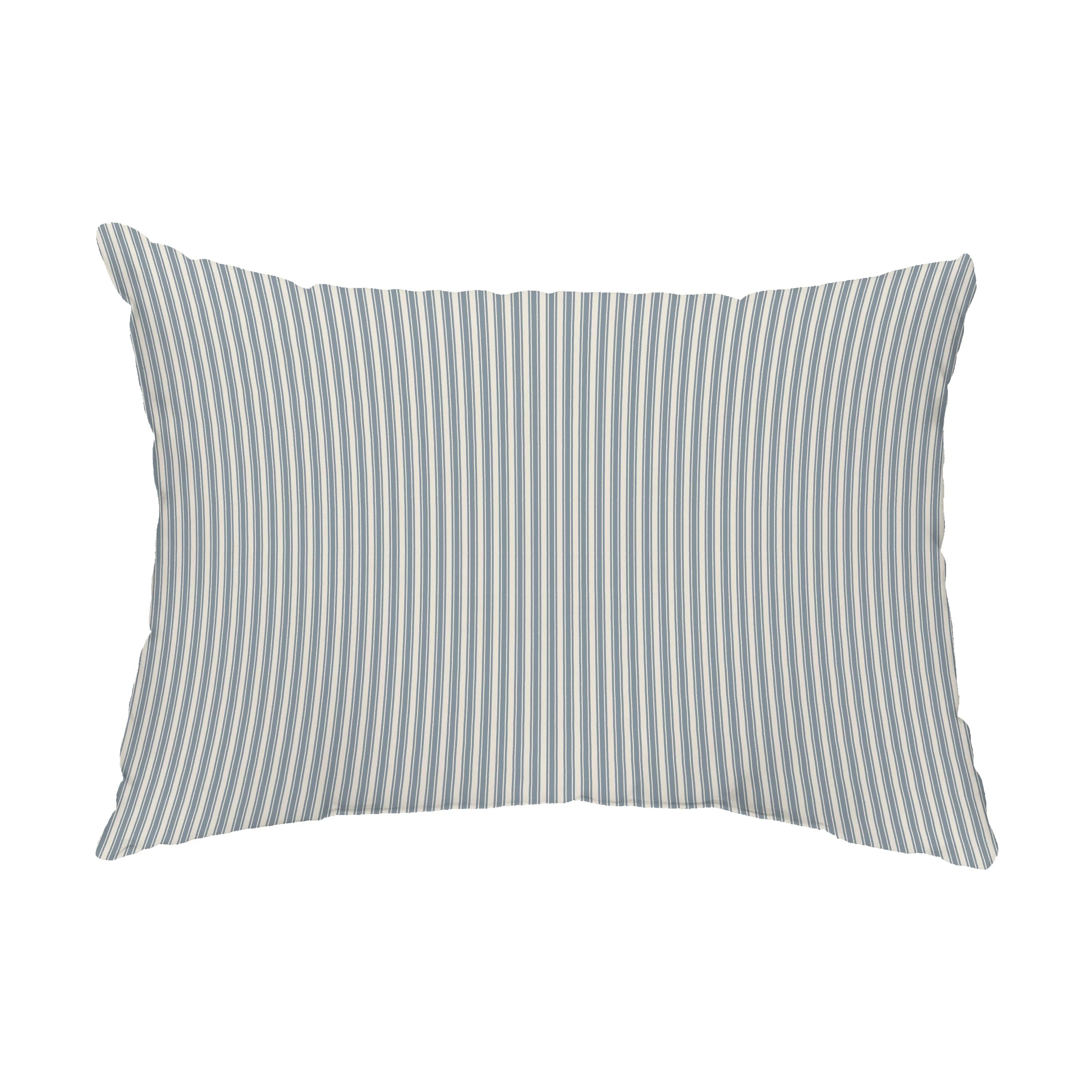 wycombe ticking stripe outdoor rectangular pillow cover insert