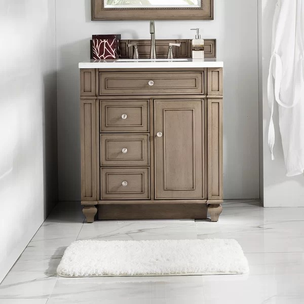 "alcott hill lambrecht 30"" single bathroom vanity set & reviews 