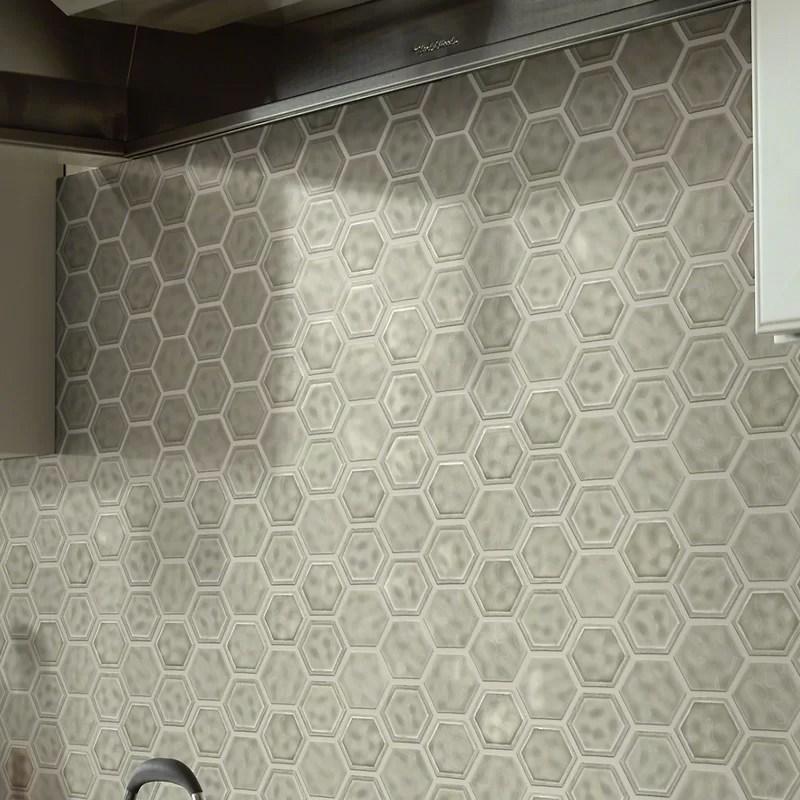 victoria 1 x 1 ceramic honeycomb mosaic tile