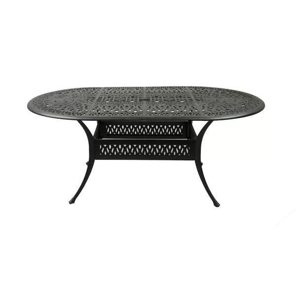 cast aluminum oval patio table