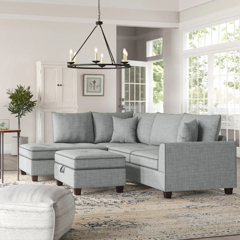 malta reversible sectional with ottoman