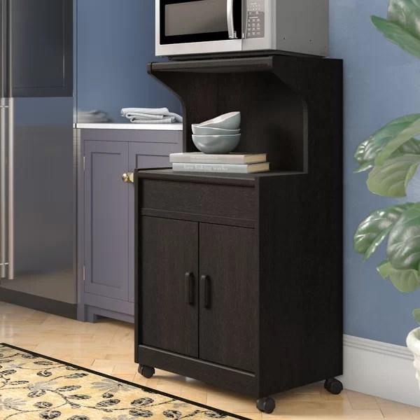 corner microwave cart