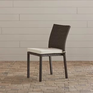 decastro stacking patio dining chair with cushion set of 4