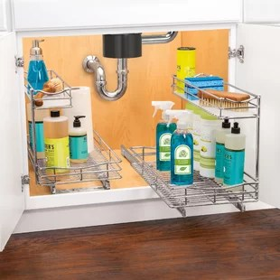 lynk professional 11 5 x 21 slide out under sink pull out drawer