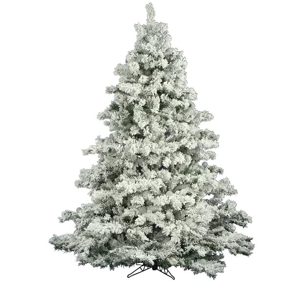 Three Posts White Green Pine Artificial Christmas Tree Reviews Wayfair Ca
