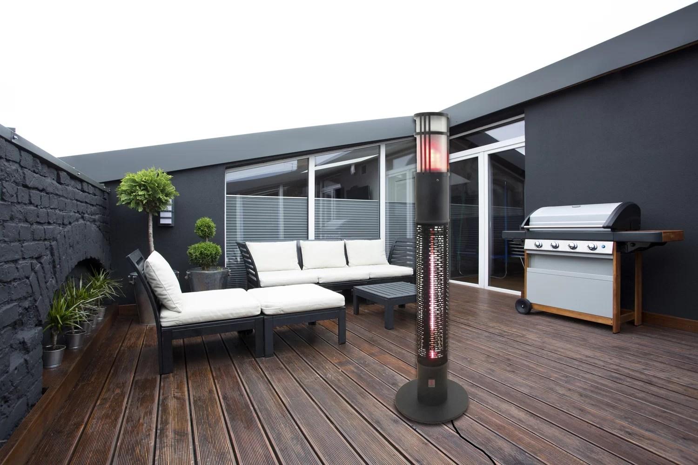 portable infrared 1500 watt electric standing patio heater