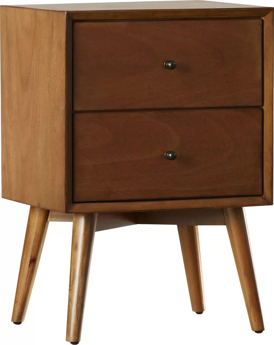Parocela 2 Drawer Nightstand