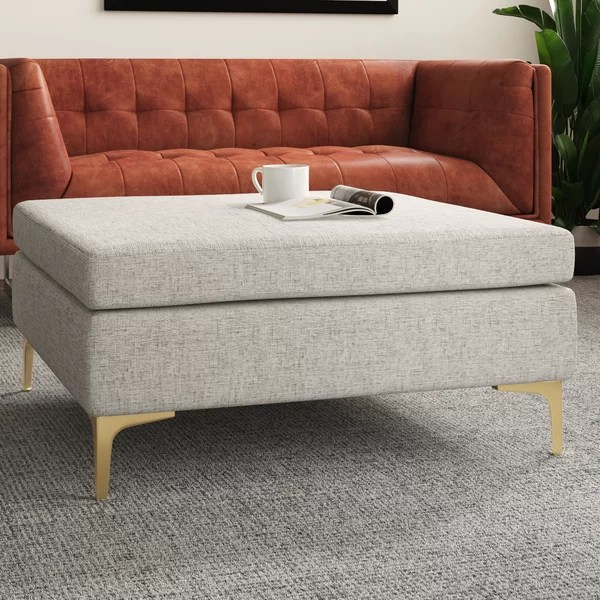 modern contemporary leather coffee table ottoman