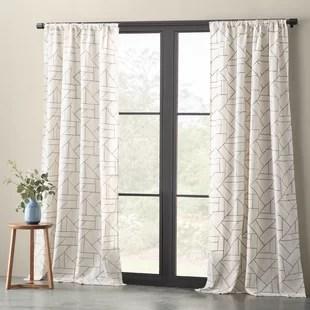 modern sheer curtains drapes allmodern