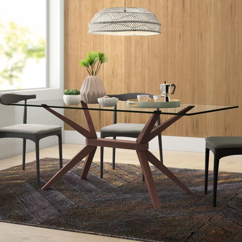 allmodern lana solid wood dining table reviews wayfair on solid wood dining table id=52669