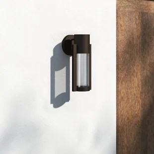 eddy led outdoor armed sconce