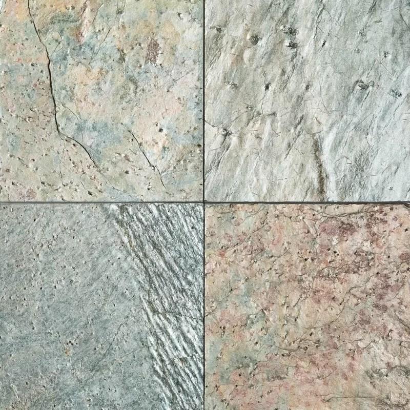 ocean green natural cleft face back 16x16 slate field tile