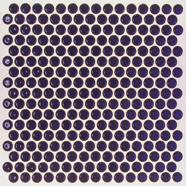 light blue penny tile