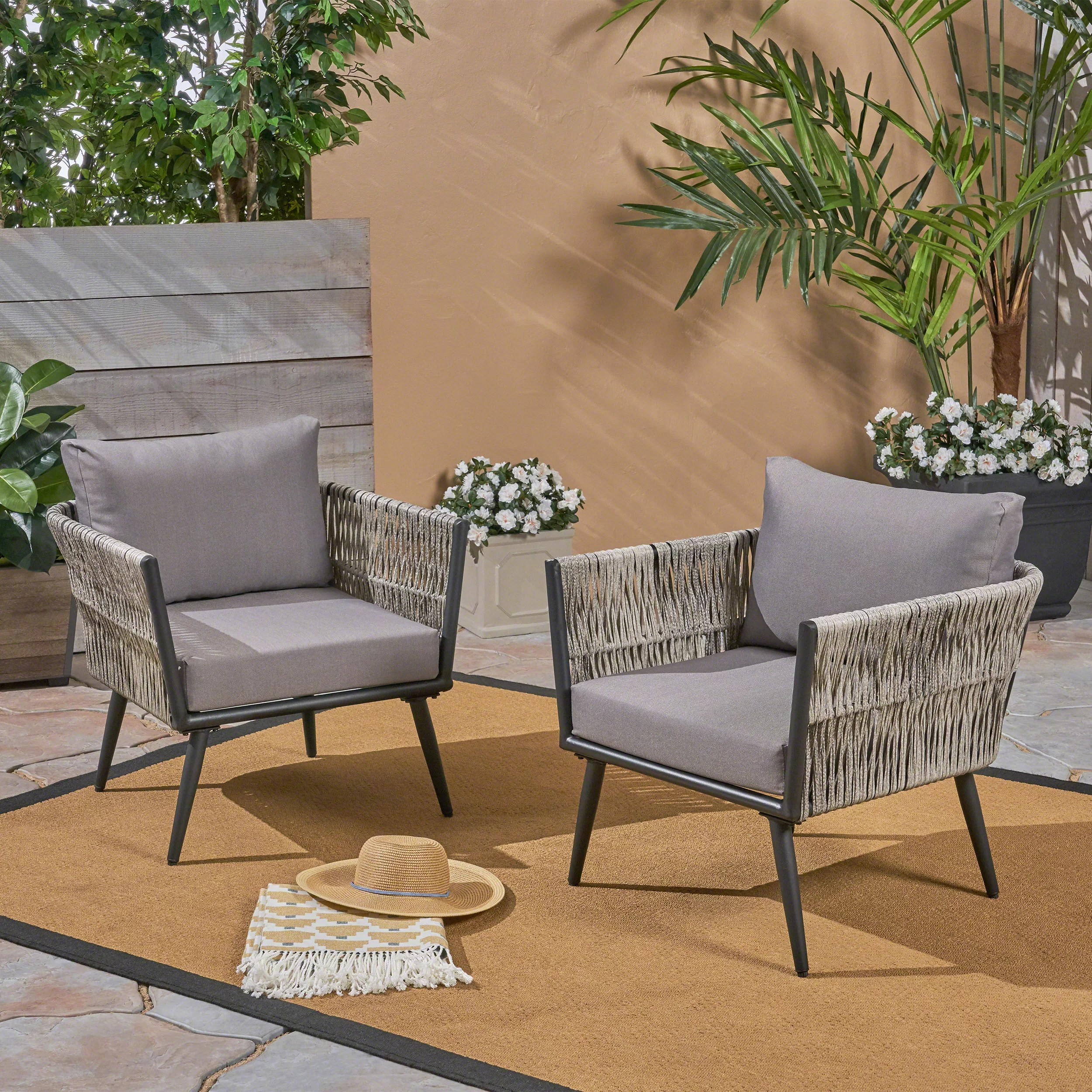 mid century modern outdoor club chairs