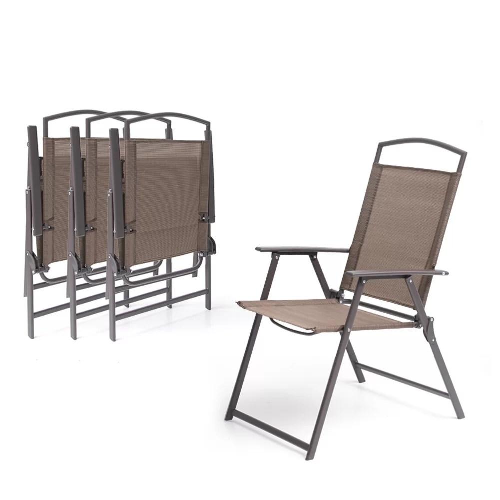 spooner folding patio dining chair